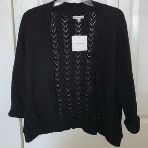 Black 3/4 sleeve cardigan